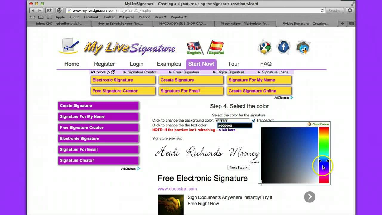 Generate Your Personal Signature for Free on My Live Signature!