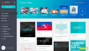 Design Your Posts Online and Free with Canva