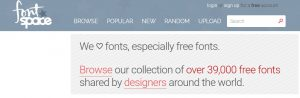 Get Fresh Fonts on FontSpace