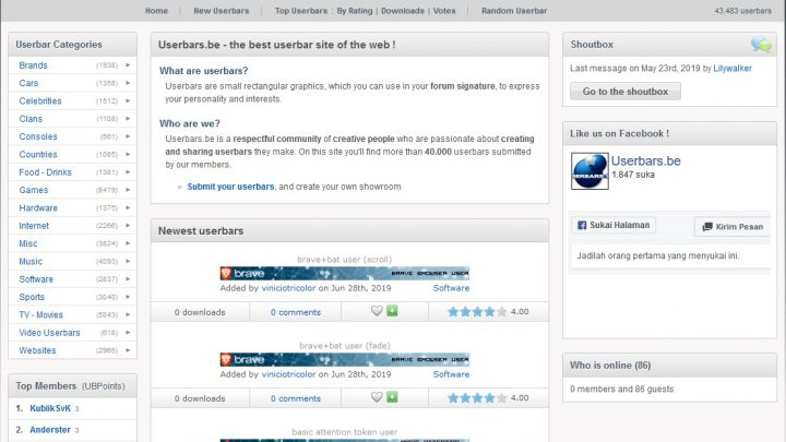 Userbars.be, The Best Userbars for Your Forum